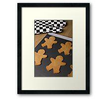 Gingerbread Men Framed Print