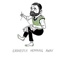 """Earnestly Hemming Away"" Photographic Print"