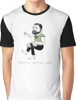 """Earnestly Hemming Away"" Graphic T-Shirt"