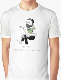 """""""Earnestly Hemming Away"""" Graphic T-Shirt"""