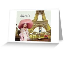 Eiffel Tower and Carla Bruni Greeting Card
