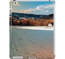 Winter wonderland and village skyline | landscape photography iPad Case/Skin