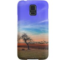 Trees, sunset, clouds, panorama and village | landscape photography Samsung Galaxy Case/Skin