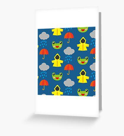 rainy days (Children's pattern) Greeting Card