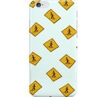 Road sign - surfers ahead wallpaper iPhone Case/Skin