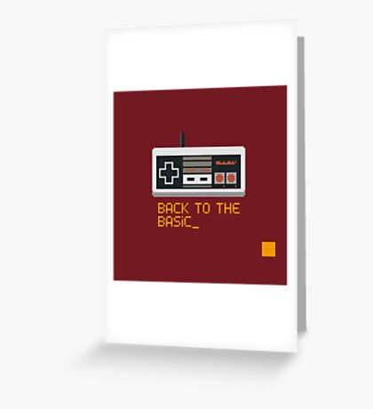 back to the basic_ Greeting Card