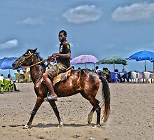 Horseboy on Beach by ampmedia7