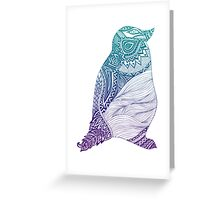 Duotone Penguin Greeting Card