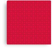 Geometric pink pixel pattern Canvas Print