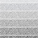 Riverside Monochrome Pebbles by Pom Graphic Design