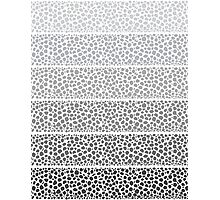 Riverside Monochrome Pebbles Photographic Print