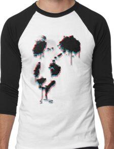 Painted Panda (3D) Men's Baseball ¾ T-Shirt