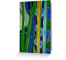 Pattern out of Grass and Stems and More Greeting Card