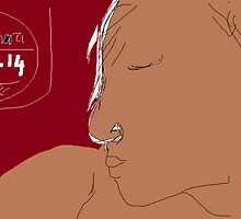 Female Head: Jamaican girl -(200214)- Digital artwork/MS Paint by paulramnora