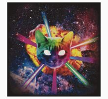 Exploding Rainbow Laser Cat by Casey McCall