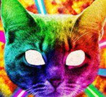 Exploding Rainbow Laser Cat Sticker