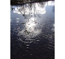 Clouds reflection in water Photographic Print