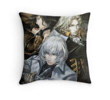 Castlevania - Alucard, Soma and Shanoa Throw Pillow