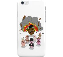 6 little pigs and the party god iPhone Case/Skin