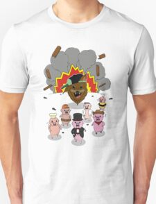 6 little pigs and the party god T-Shirt