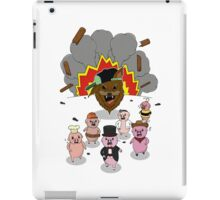6 little pigs and the party god iPad Case/Skin