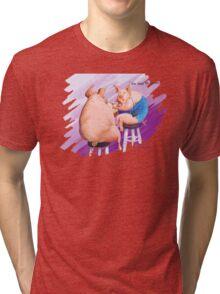 Doc says it's glands! Tri-blend T-Shirt