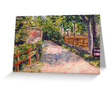 Narrow road leading to Brent Knoll. Greeting Card