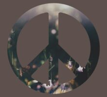 Peace Sign - Purple Flowers by leucanthemum