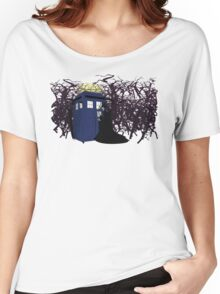 Maleficent and the Tardis Women's Relaxed Fit T-Shirt