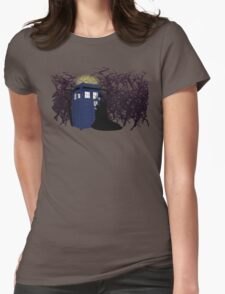 Maleficent and the Tardis Womens Fitted T-Shirt