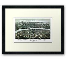 Oil City - Pennsylvania - 1896 Framed Print