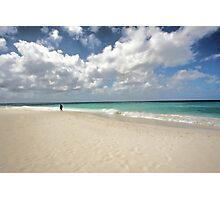 Cloudy Shoreline Photographic Print
