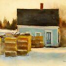 Blue House, Stonington, Maine by Dave  Higgins