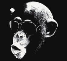 Aviator Chimp by 8balltshirts
