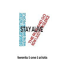 Twenty One Pilots lyric logo by featherarrows