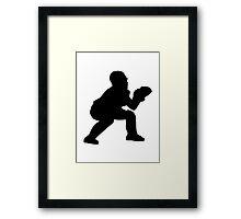 Baseball catcher Framed Print