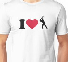 I love Baseball player Unisex T-Shirt