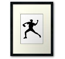 Baseball pitcher Framed Print