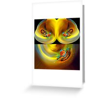 playing with water drops  Greeting Card