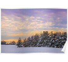 Winter Sundown Poster