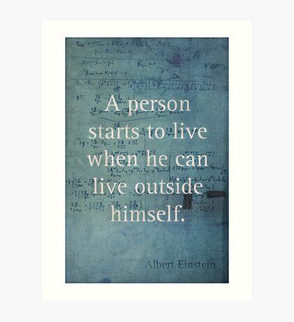 Einstein Quote 2 Art Print