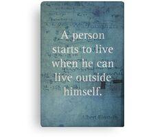 Einstein Quote 2 Canvas Print
