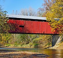 Dick Huffman Covered Bridge, Putnam County Indiana by Kenneth Keifer