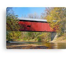 Dick Huffman Covered Bridge, Putnam County Indiana Metal Print