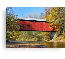 Dick Huffman Covered Bridge, Putnam County Indiana Canvas Print
