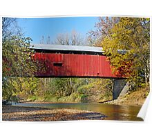 Dick Huffman Covered Bridge, Putnam County Indiana Poster