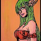 Fairy Native - Original Art Print by Arek619