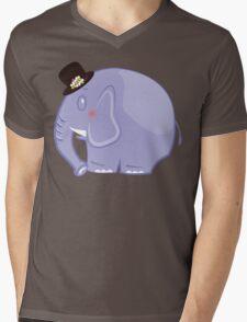 Baby Elephant Mens V-Neck T-Shirt