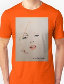 Marilyn, Charcoal and Pastel Unisex T-Shirt