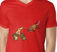 Rowdy Turtles Mens V-Neck T-Shirt